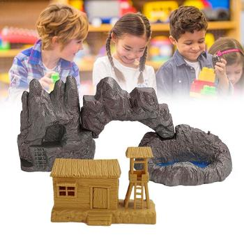 Sand Table Model Accessories Home Decoration ABS Plastic Sand Cave Wood Tree Egg Model Stone Dinosaur Table H8E3 image