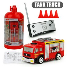 27MHz RC Tank Truck 4CH Rechargeable Portable Mini Remote Control Fire Truck Forward Backward Children Toys rc truck 2 4g radio control construction rc cement mixer fire truck rc garbage truck rc crane truck for kids gift toys