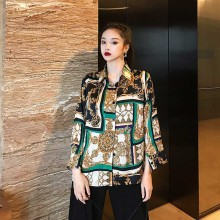NiceMix blusas mujer de moda designer shirts spring fall brand women fashion blouses chiffon tops turn-down collar veteme