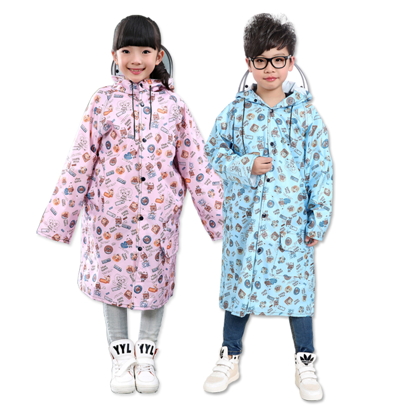 Children Waterproof Raincoat Jacket Set Portable Hooded Raincoat Lightweight Stylish Outdoor Regenpak Dames Rainwear GG50YY