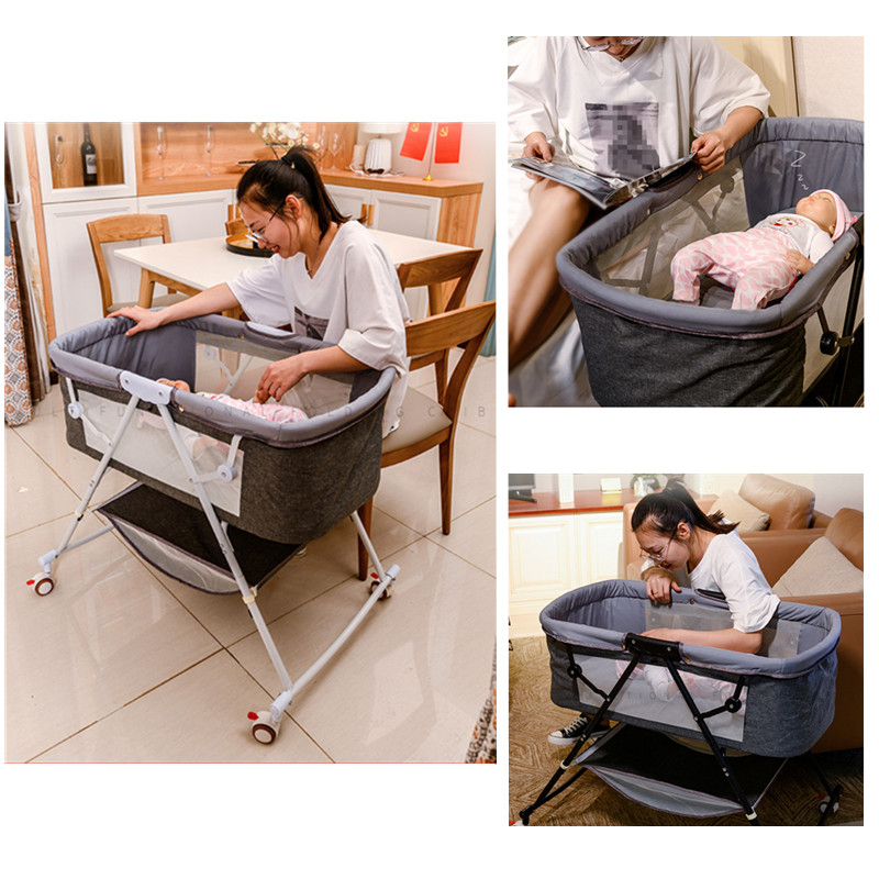 Travel bed easy fold sleeping next Baby Nest Crib Portable Removable rocking chair Travel Bed For Travel bed easy fold sleeping next Baby Nest Crib Portable Removable rocking chair Travel Bed For Children Infant Kids basket