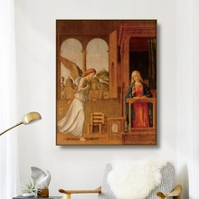 Canvas Art Oil Painting《The annunciation》Cima da conegliano Poster Picture Wall Decor Modern Home Decoration For Living room