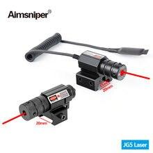 Aimsniper мини охотничий красный точечный лазерный прицел с
