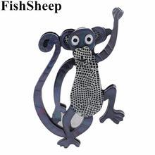 Fishsheep Акриловые броши в виде обезьяны Мультяшные милые животные