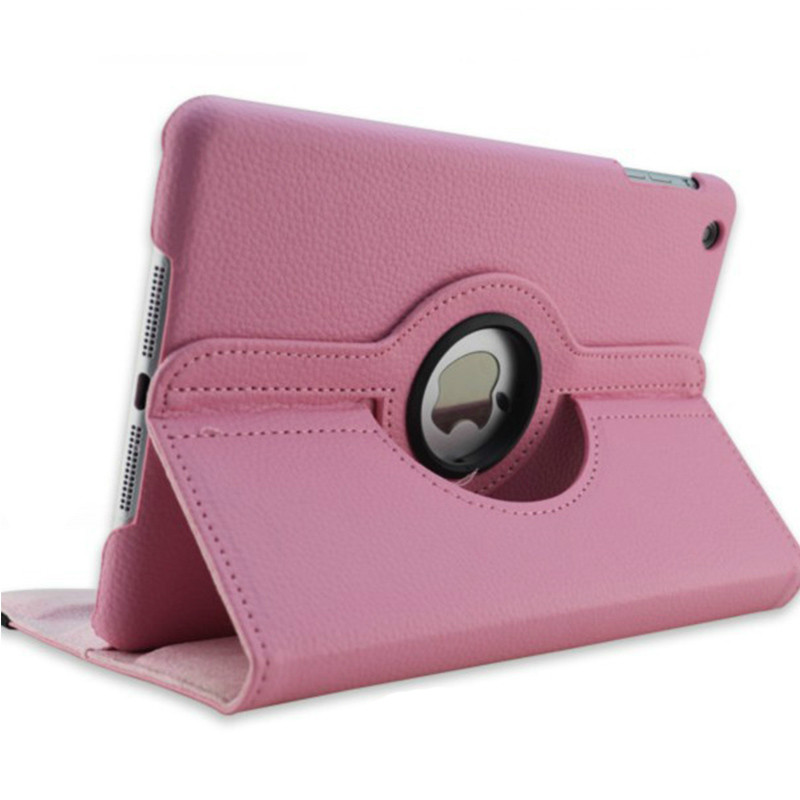 Pink Pink Case for Apple iPad pro 11 Case 2020 A2228 A2068 A2230 2nd 360 Degree Rotating Leather