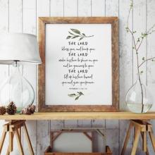 Bible Verse Citazione Manifesto Stampe Il Signore Vi Benedica E Mantenere Si Christian Complementi Arredo Casa Scrittura di Arte Della Parete Della Tela di Canapa Pittura Immagine