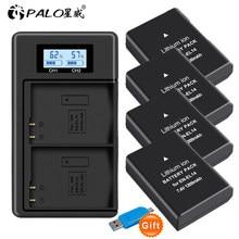 PALO – batterie EN-EL14 EN EL14 EN EL14a + USB LCD, double chargeur pour Nikon D3100 D3200 D5100 D5200 DF P7000 P7100 P7200 P7700 P7800