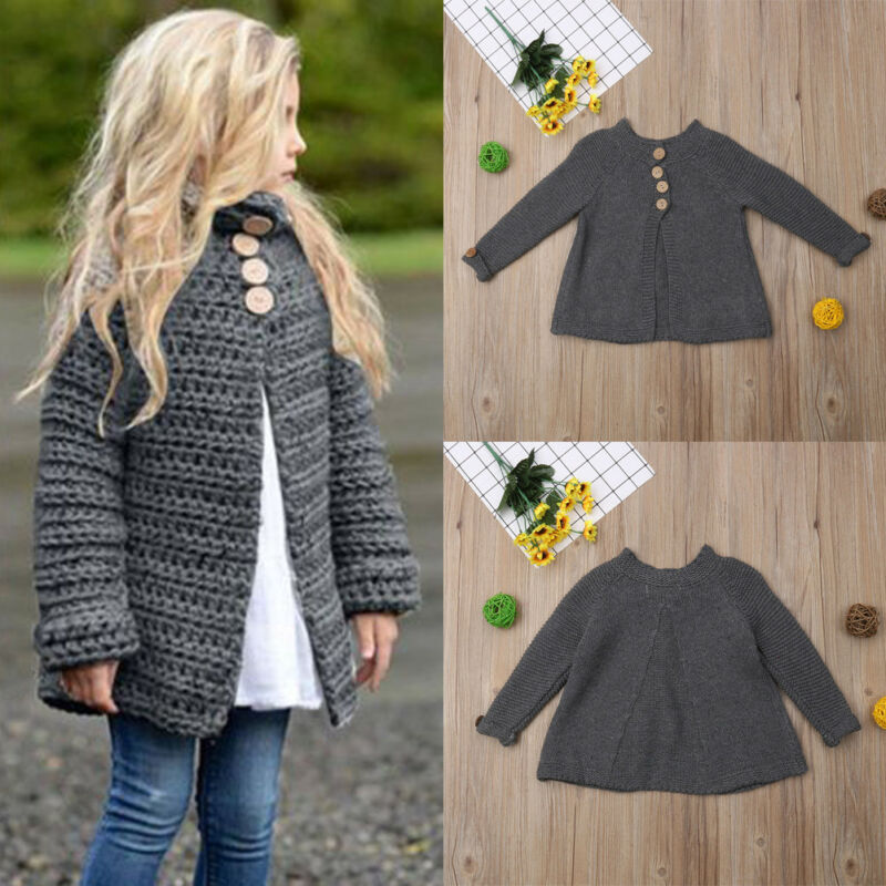 Autumn Winter Cotton Sweater Top Baby Children Clothing Boys Girls Knitted Cardigan Sweater Kids Spring Wear New