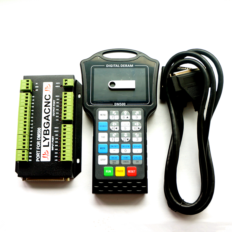 DM500 3/4 Axis Handwheel Motion Controller 500 KHz G Code CAD/CAM USB Flash Disk Cnc Router Milling Engraving Machine Parts