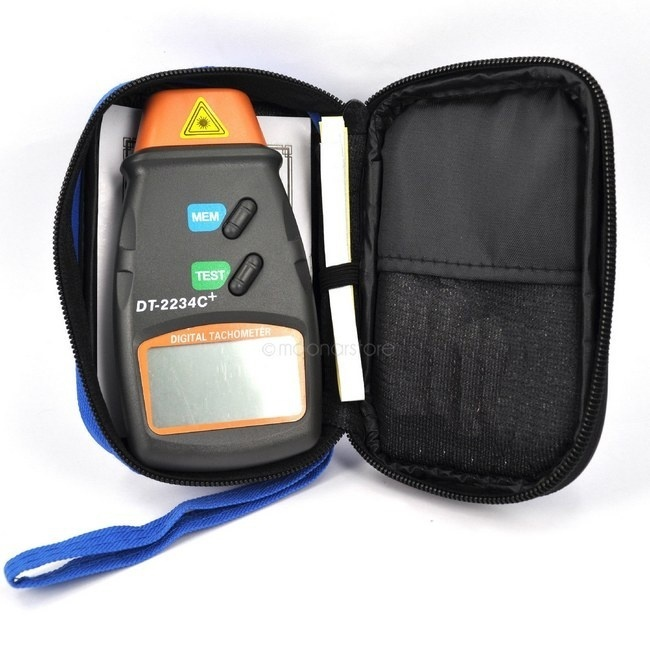 1pc Non Contact Tach Tool Handheld Digital Laser  Photo Tachometer Tester RPM Motors With Large LCD Displaying Measuring Tools
