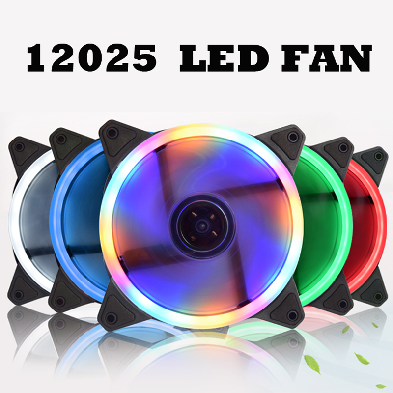 Computer 12cm 120mm LED Fan Water <font><b>Cooler</b></font> <font><b>120</b></font> mm Fan Cool Glare Red Blue Green White <font><b>Cooler</b></font> Fan 3pin to <font><b>4pin</b></font> image