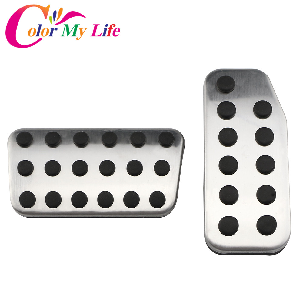 Color My Life Stainless Steel Car Styling Car Pedals Car Pedal Protection Cover for Honda Fit Jazz 2011 - 2020 Parts Accessories