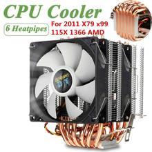 LGA2011 CPU Kühler Dual Turm CPU Lüfter 6 Heatpipes 3PIN Computer Kühlkörper Kühler für Intel 115X 775 1366 & AMD X79 X99