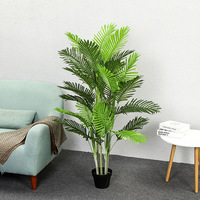 large 140cm 5 stem bamboo palm tree potted bonsai greenery artificial tree living room decoration artificial plants fake plants