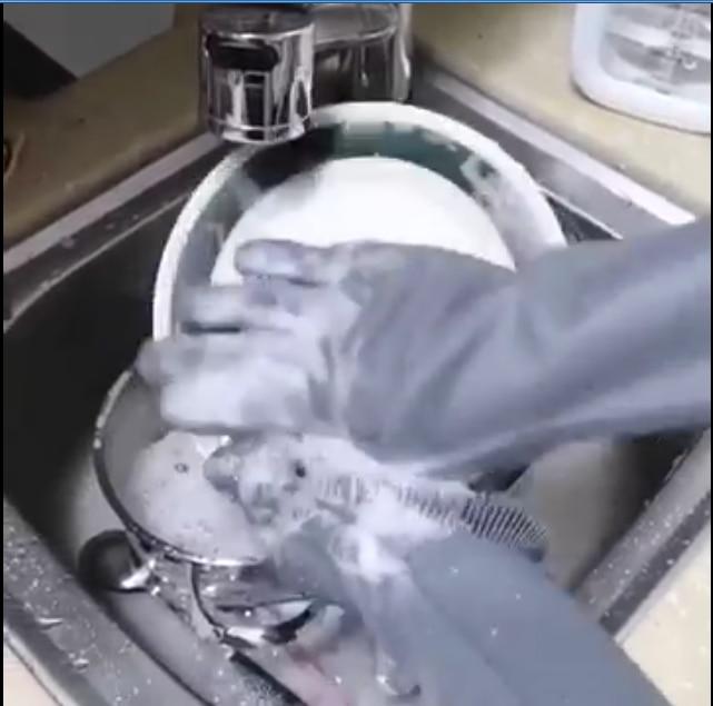 Per uso alimentare in silicone Multi-purpose Pigro guanti per lavare i piatti di Spessore durevole comoda scrub pennello strumenti di Pulizia per la casa