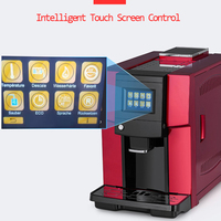 220v 1250w Touch Commerical Fully Automatic coffee machine LCD espresso coffee machine & coffee grinder 19 bar cappuccino maker