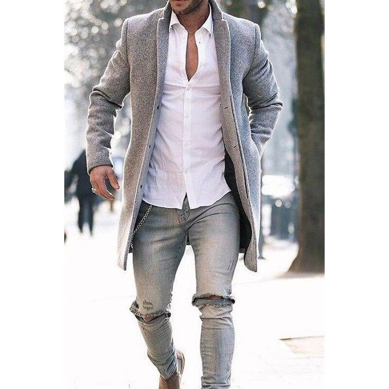 Novo casaco masculino social casual outono inverno