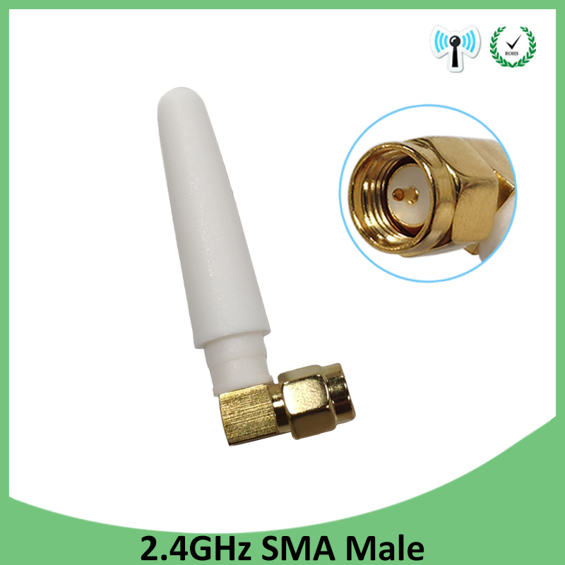 2.4GHz Antenna Wifi SMA Male Connector 2~3dbi 2.4 Ghz Antena Wi Fi Small Size 2.4g Antenne White Wi-fi Antenas Antennas Router