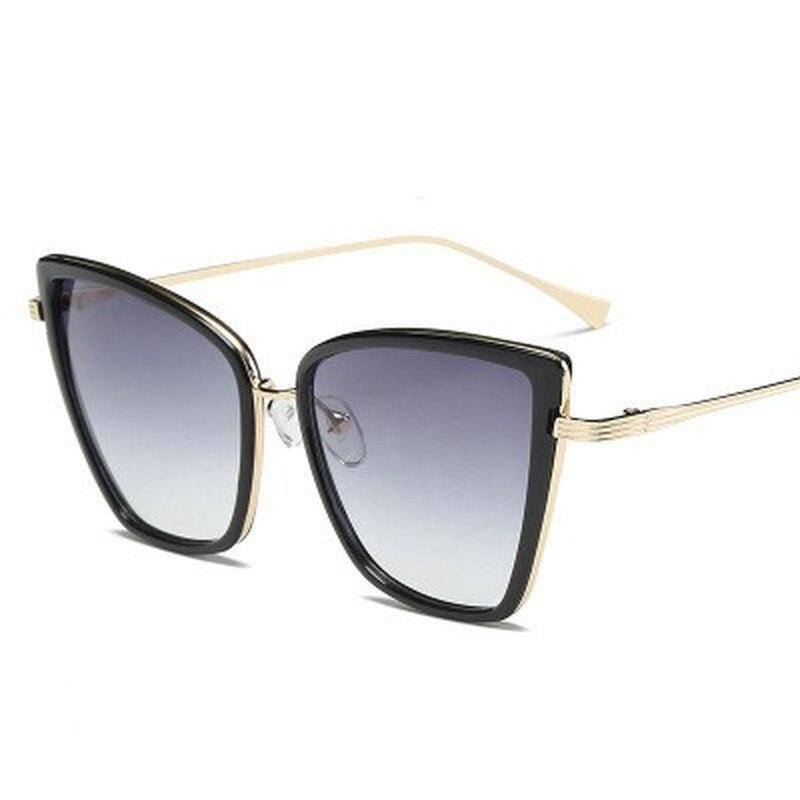 Gafas De sol De estilo ojo De gato para mujer, anteojos De sol femeninos De marca De diseñador, Estilo Vintage, De Metal, con espejo Retro, 2020