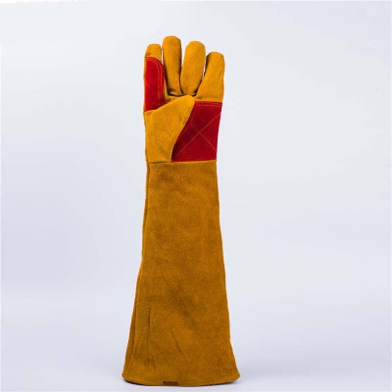 60cm Longer Wear-resistant, Heat-insulating And Cut-resistant Welding Gloves