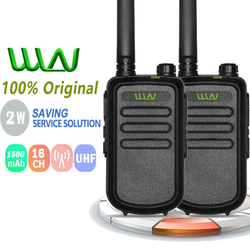 2pcs 100% original wln KD-C10 walkie talkie 2w uhf 400-470mhz 3-5km rádio amador walky talky rádio profissional baofeng vhf uhf