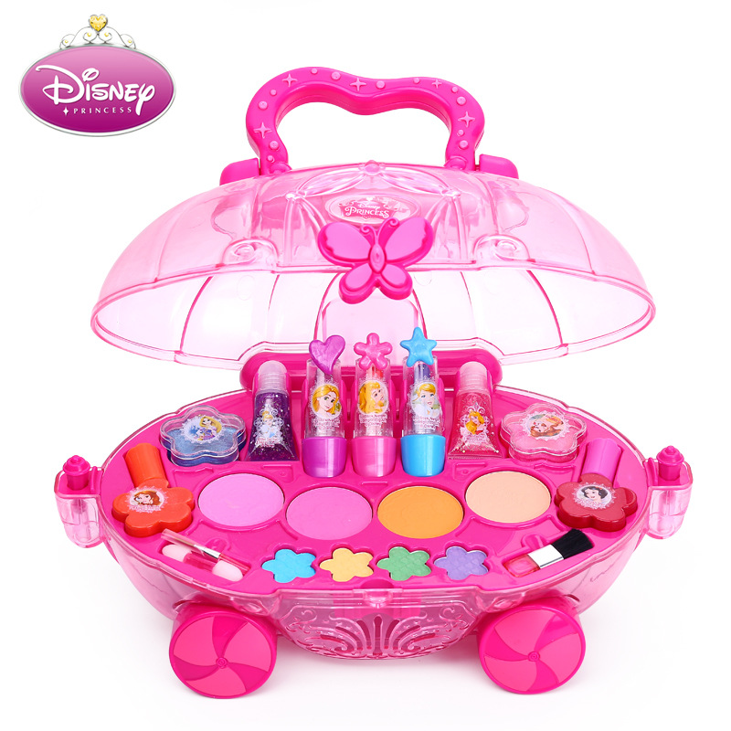 Disney Princess Makeup Set For Girl Toys Frozen Elsa Anna Snow White Belle Rapunzel Pretend Play Makeup Disney Princess Toys