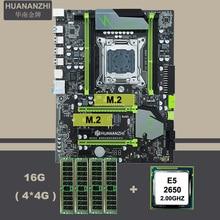 HUANANZHI X79 בשולחן עבודה עם כפולה M.2 SSD חריץ מעבד Intel Xeon E5 2650 גדול מותג זיכרון מודולים 16G(4*4G) REG ECC קומבו