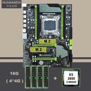 Image 1 - Десктопная материнская плата HUANANZHI X79 с двумя слотами M.2 SSD ЦП Intel Xeon E5 2650 модули памяти крупного бренда 16 Гб (4*4 Гб) REG ECC Combo