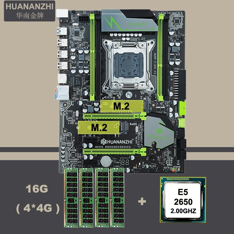 Bilgisayar ve Ofis'ten Anakartlar'de Masaüstü anakart ile M.2 yuvası NVMe SSD marka HUANAN ZHI X79 LGA2011 IŞLEMCI Intel Xeon E5 2650 SR0KQ RAM (4*4G) 16G DDR3 REG ECC title=