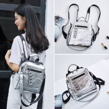 New Design Female Shoulder Bag Women's Silver Reflective Bag Personality Dual-use Shoulder Bag Student School Bag Clutch Bags