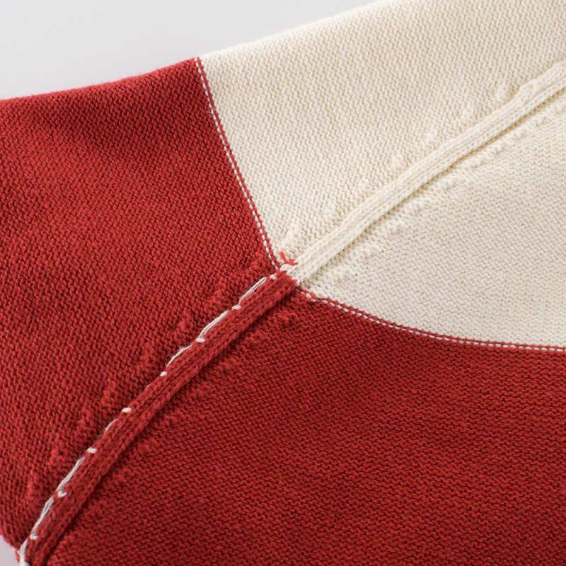 Trẻ em Mùa Thu Đông Áo Len Áo Khoác Cotton Bộ Trang Phục Trang Phục Trẻ Em Dệt Kim Áo Len Sọc Bé Trai Bé Gái Áo Thun Chui Đầu Quần Áo