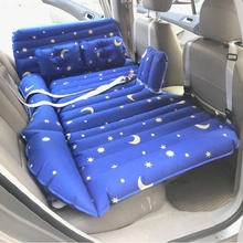 Car Air Inflatable Travel Mattress Bed  Multi Functional Sofa Pillow Outdoor Camping Mat Baby inflatable bed with hang  belt