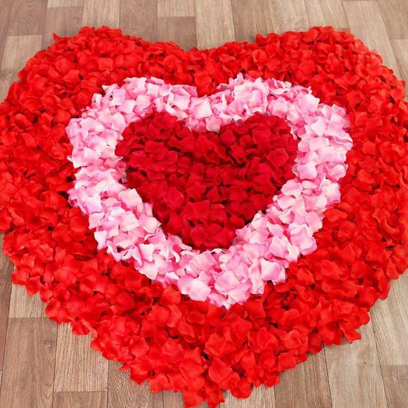2000 Pcsกลีบกุหลาบประดิษฐ์Petalasสีสันดอกไม้อุปกรณ์เสริมRose