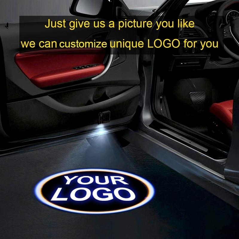 1pcsCustom Logo Projector LED Door Welcome Light Shadow Car Logo Light For All Models For Jaguar Renault Suzuki Toyota Bmw