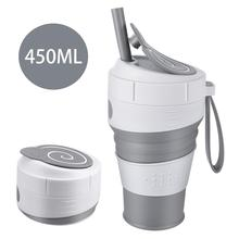 Three-Piece Creative 450ml Folding Silicone Cup Travel Portable Water Cup Silica Coffee Mug Telescopic Drinking Collapsible Mugs цена