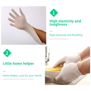 Image 5 - 100Pcs/Lot Disposable Latex Protective Gloves Non Slip Acid Laboratory Rubber Latex Gloves Household Cleaning Supply