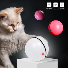 Smart Interactive Cat Toy 360 Degree Automatic Rotating Ball Pet Play House Toy USB Rechargeable Led Light Cat Toys когтеточка(China)