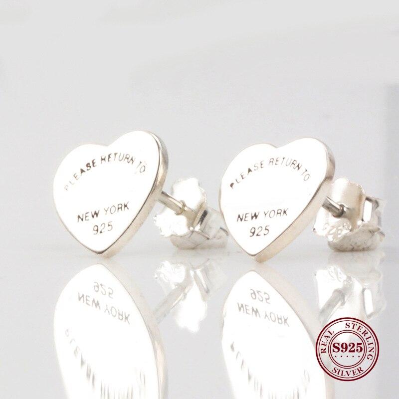 original 925 Sterling Silver Earring Vintage Allure Please Return To New York  Earrings  For Women Gift Fashion Jewelry
