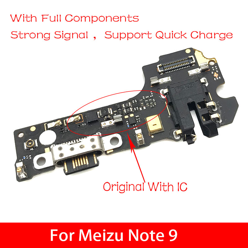 Micro Dock Connector FPC Board For Meizu Note 9 USB Charging Port Flex Cable Replacement