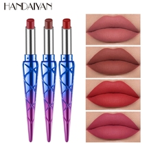 HANDAIYAN, 1 шт., 12 цветов, натуральная матовая губная помада, водостойкая губная помада, сексуальный стойкий макияж, антипригарная чашка, тинт для губ, TSLM2