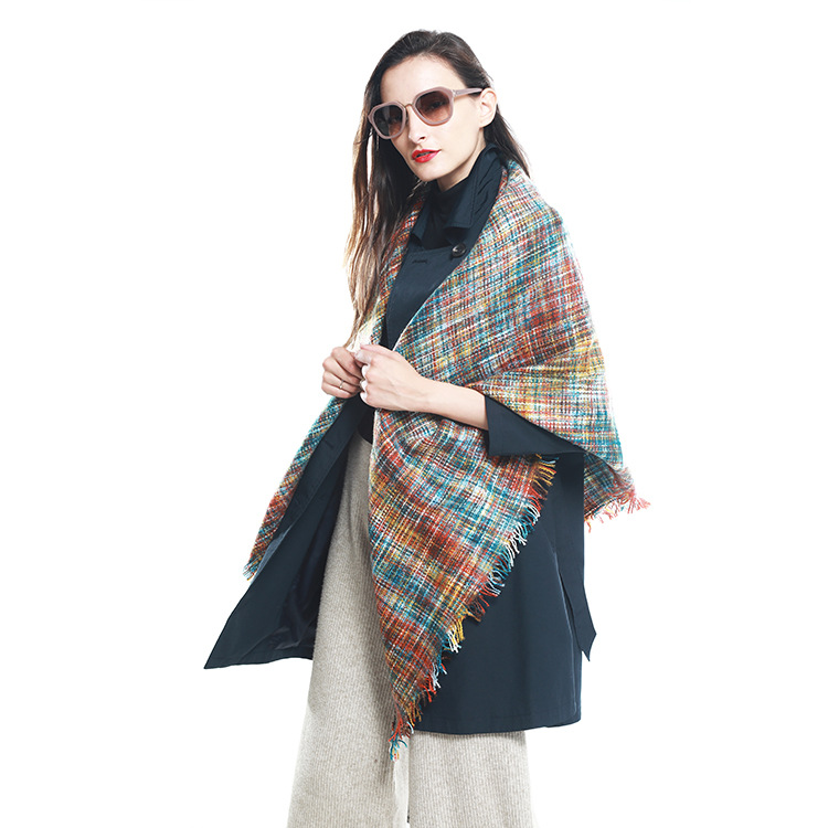New Shawl Cloak Female European American and Korean Version Fashionable Triangle Scarf with Multi-purpose Liushu Section
