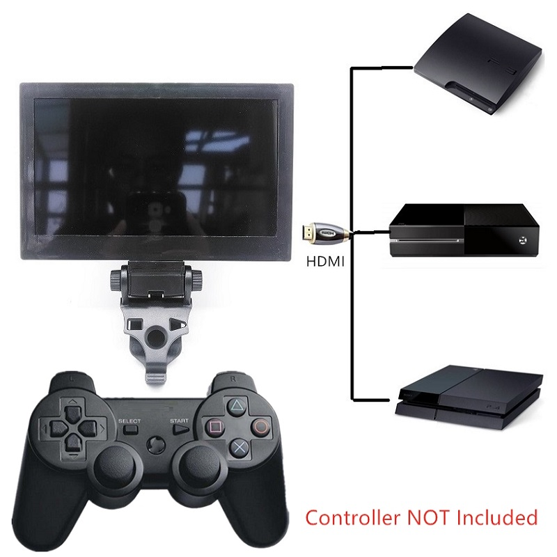 7 Inch Portable Handheld Mini Monitor Joystick TV Gamepad TV HDMI 1080P For TV Game Consoles For PS3 For PS4 For Xbox One