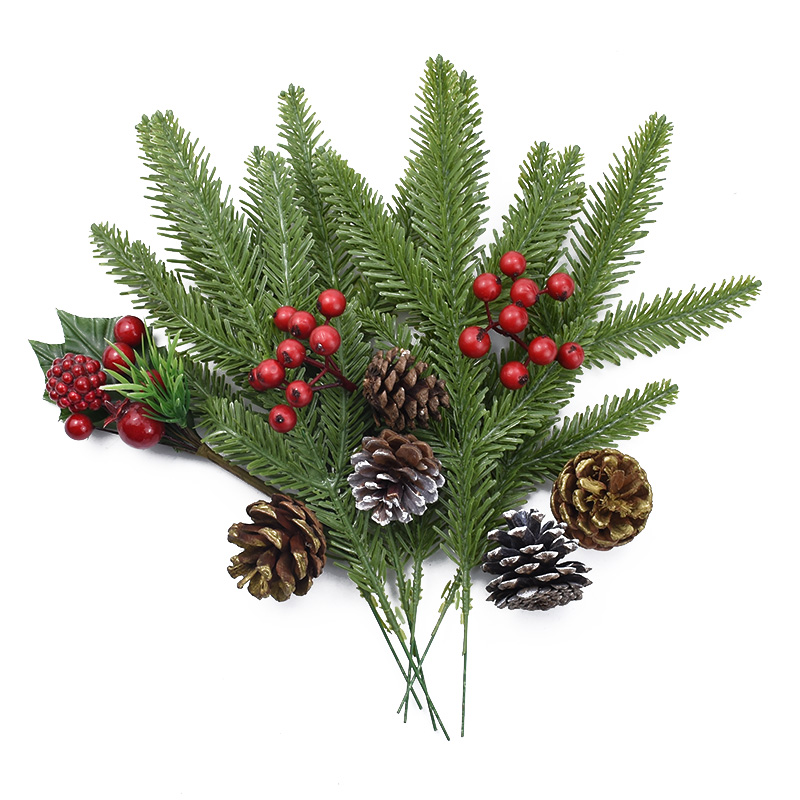 1/5/10 Pcs Christmas Decorations For Home Artificial Plants Wedding Decorative Flowers Vases Household Products Scrapbook Flower