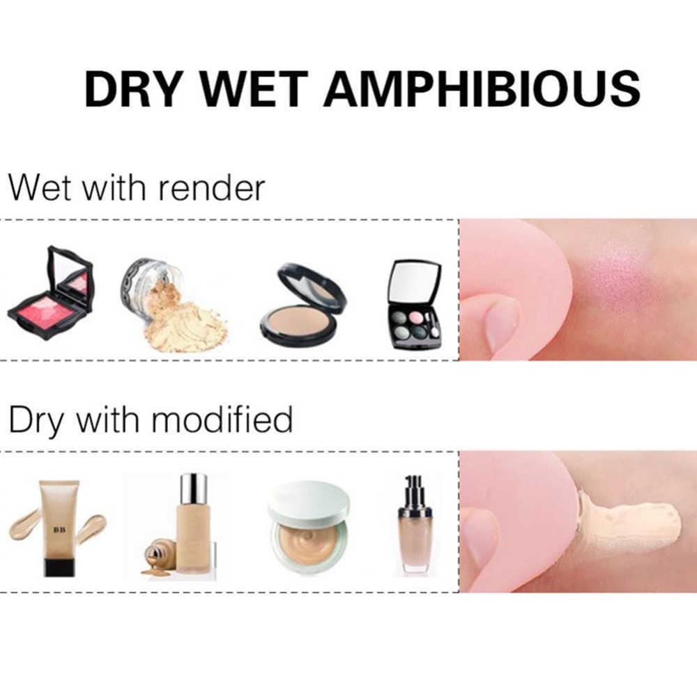 1 szt. Puder kosmetyczny Puff gładki damski podkład do makijażu gąbka uroda do narzędzia do makijazu akcesoria kształt kropli wody