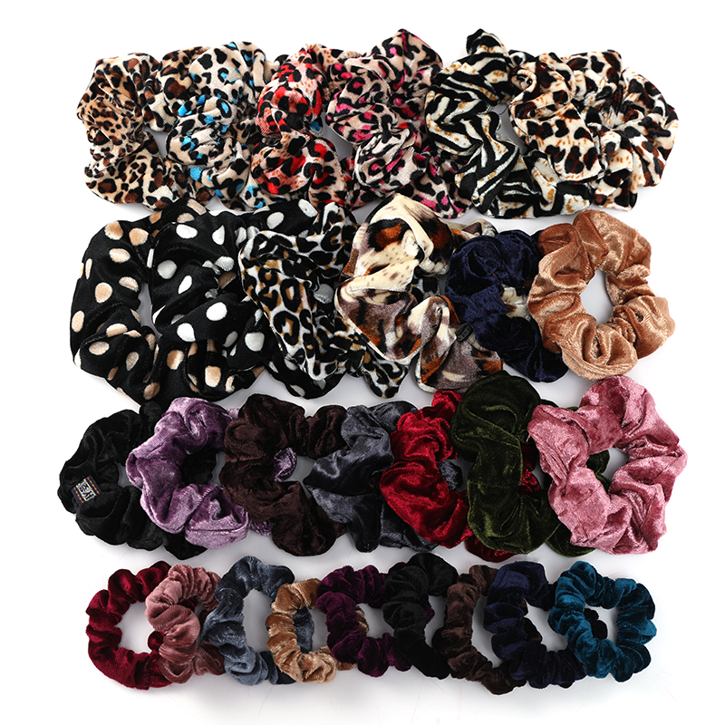 New 61 Styles Women Girls Sweet Print Elastic Hair Bands Ponytail Holder Scrunchie Headband Rubber Band Fashion Hair Accessories