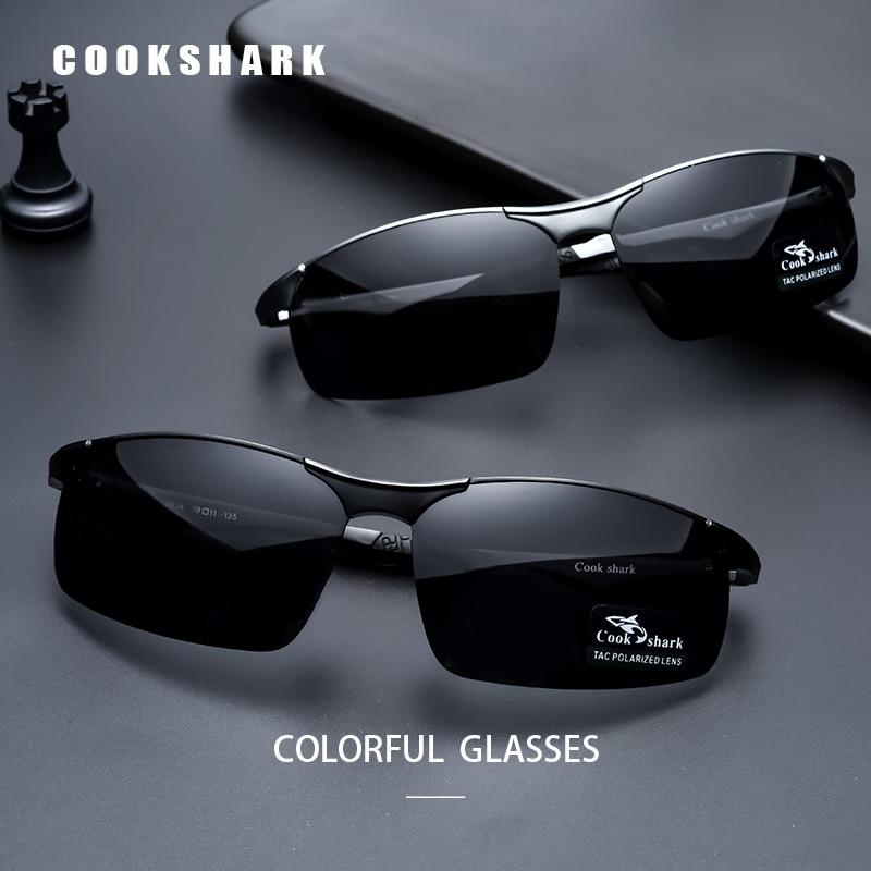 Cook Shark 2020 nuovi occhiali da sole in alluminio e magnesio occhiali da sole da uomo HD polarized driving driver glasses tide 2