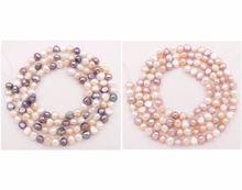 Ожерелье из натурального жемчуга барокко 7 8 мм 32 дюйма