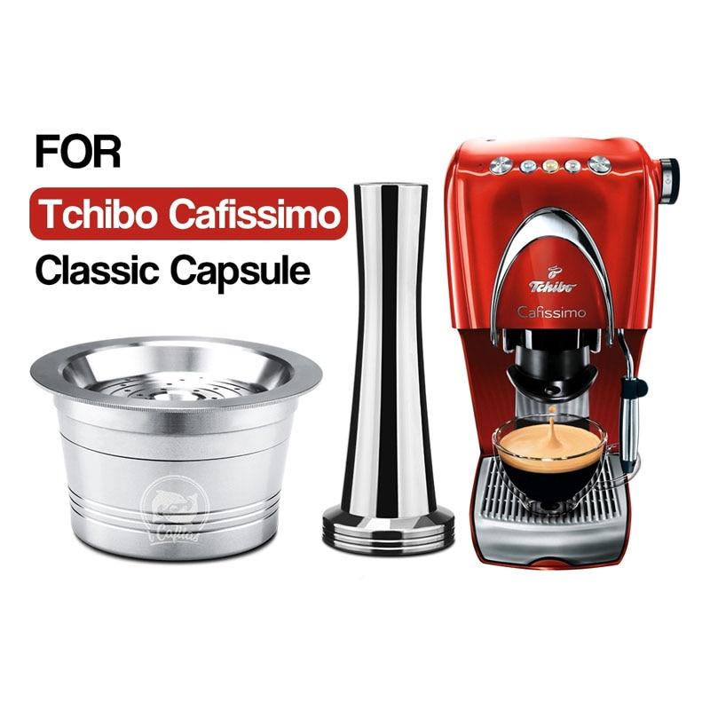 Многоразовые многоразовые кофейные капсулы ICafilas из нержавеющей стали, фильтр кафетериа для кофеварки, Итальянская Классическая машина Tchibo...