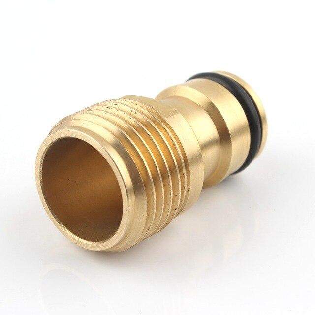 Kupfer 1/2 3/4 1 Gewinde Adapter Wasserhahn Wasserhahn Joint Wasser Pistole Waschen Auto Stecker 16mm garten Schlauch Anschluss Für Garten