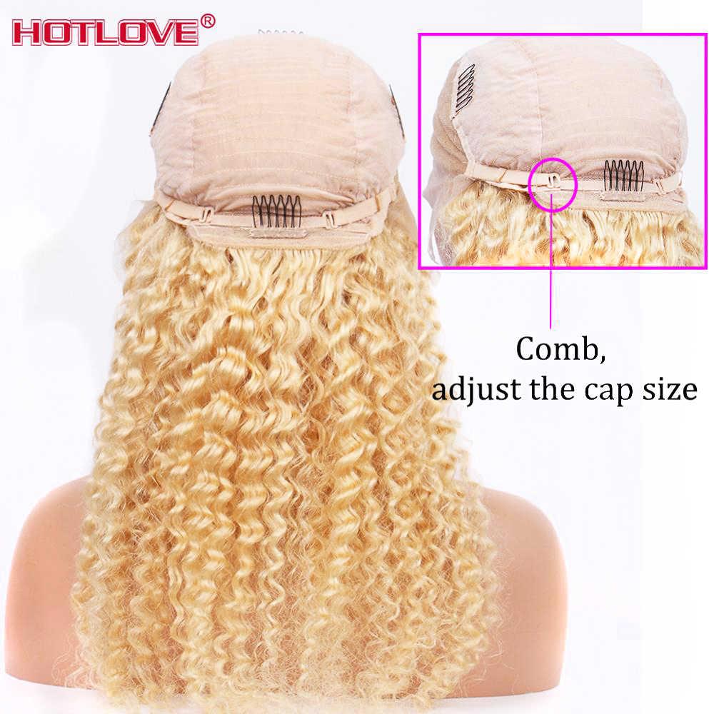 613 blond Glueless koronki przodu włosów ludzkich peruk brazylijski luźne głęboka fala peruki 13x4 koronkowa peruka na przód włosy blond peruki Remy 150%